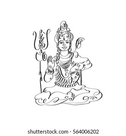 Lord Shiva Sketches Images, Stock Photos & Vectors