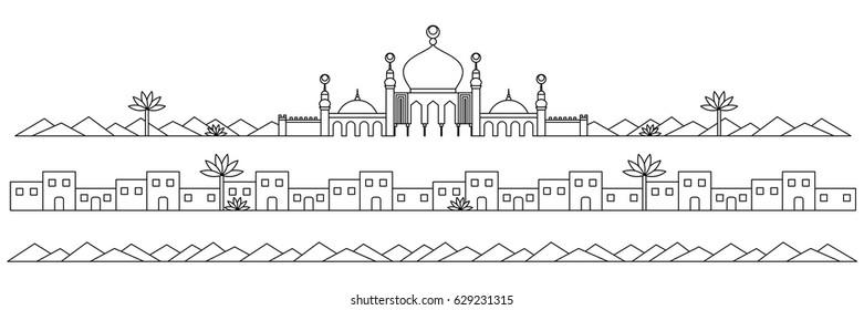 Mosque Line Art