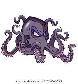Line art octopus
