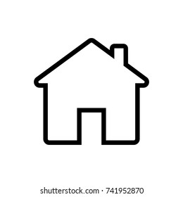 line art / out line home vector icon, house vector icon