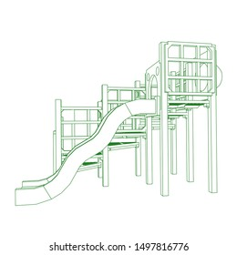 Playground Coloring Page Images, Stock Photos & Vectors
