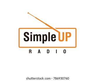 Line Art Simple Radio Electronic Up Symbol Modern Logo Vector