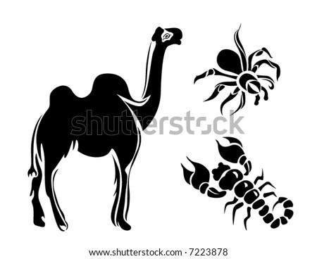 Vector Line Art Animals : Line art vector animal series desert stock royalty free