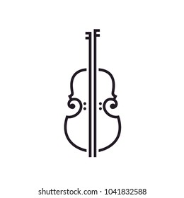 Line Art Violin / Cello logo design inspiration