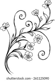 line background Wallpaper designed with beautiful bouquet of flowers.
