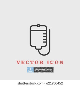 Line Bood bag icon illustration isolated vector sign symbol