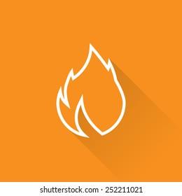 Line Burn Calories Icon
