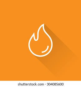 Line Burn Hot Fire Icon