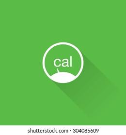 Line Calories Icon