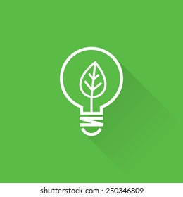 Line Clean Energy Concept Icon