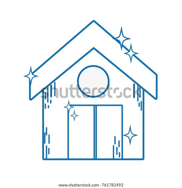 Line Clean House Roof Door Design Stock Vector Royalty Free 761782492