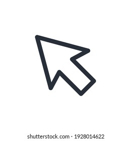 line cursor icon in trendy flat style isolated on background. line cursor icon symbol for your web site. line cursor design icon logo, app, UI. line cursor icon Vector illustration, EPS10.