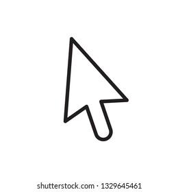 line cursor mouse pointer icon vector