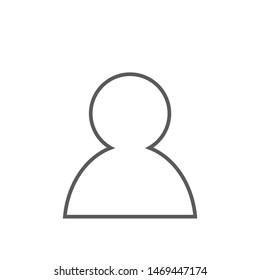 Line design blank avatar placeholder