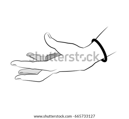 Line Design Tattoo Hand Simple Minimal Vector De Stock Libre De