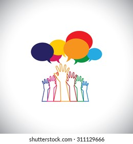 line design vector - abstract hands of people requesting help, assistance. This vector graphic also represents person seeking love, care, aid, soccour, support, etc
