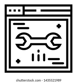 Line design of web page setting icon.