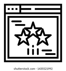 Line design of website rating icon.