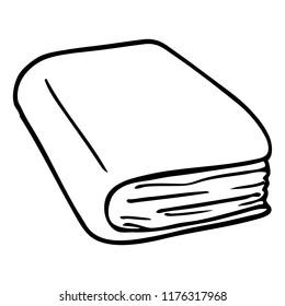 line drawing cartoon brown diary