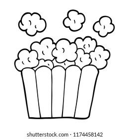 line drawing cartoon cinema popcorn
