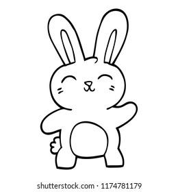line drawing cartoon cute bunny