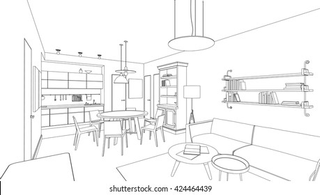 House Sketch Inside Stock Illustrations Images Vectors