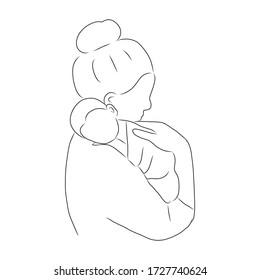 Mother Hugging Child Sketch Images Stock Photos Vectors Shutterstock