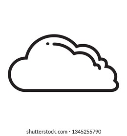 Line drawing vector of a cloud icon for cloud computing concept