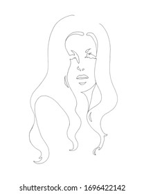 Line drawing of a woman