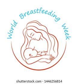 World Breastfeeding Week Logo Images Stock Photos Vectors