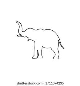 Line elephant icon illustration isolated vector sign symbol