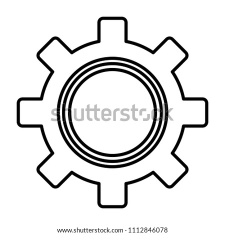Line Engineering Gear Technical Industry Process Stock Vector