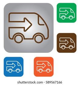 line fast truck Icon. Truck icon.