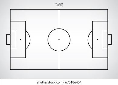Line of football field or soccer field background. Vector illustration.