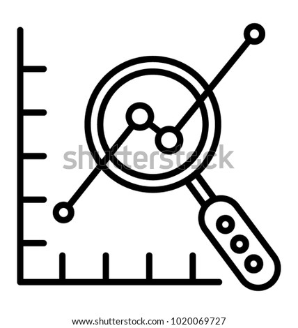 line graph analysis business forecasting stock vector (royalty free