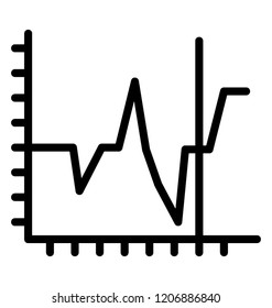 Line graph data visualization