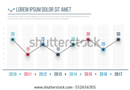 line graph template business infographics vector stock vector