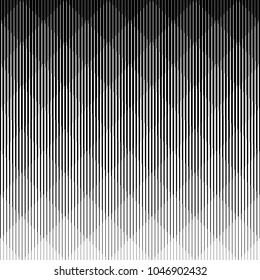 Line halftone pattern with gradient effect. Gorizontal lines. Template for backgrounds and stylized textures. Design element.