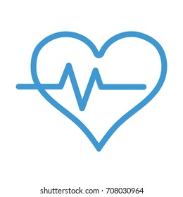 line heartbeat vital sign to ekg frequency
