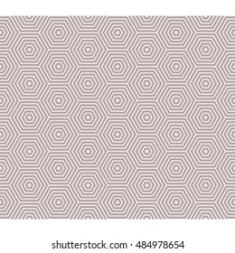 line hexagon seamless pattern, illusion theme background