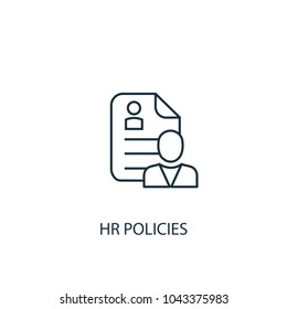 Line Hr policies icon. Simple element illustration. Hr policies symbol design from HR collection. Can be used in web and mobile.