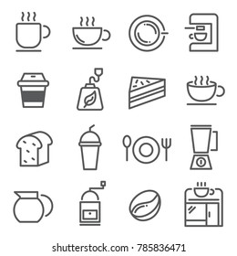 line icon about coffee. editable stroke. vector illustration.