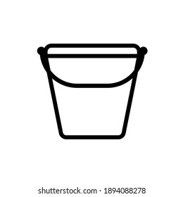 Line Icon Bucket Water for Gardening tools, Website, App, and Social Media Promotion