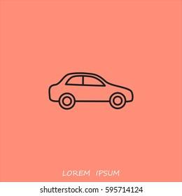 Line icon- car