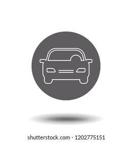 Line icon- car symbol for web site design, logo, app, UI. Vector illustration, EPS10