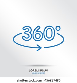 Line icon- degrees view