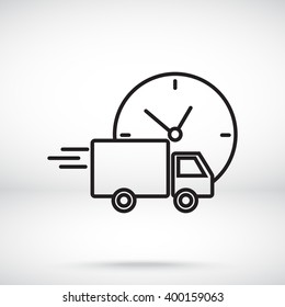 Line icon-  delivery express