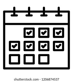 Line icon design of a day planner or calendar
