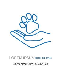 Line icon- dog adoption