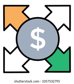 Line icon expenses, paying expenses